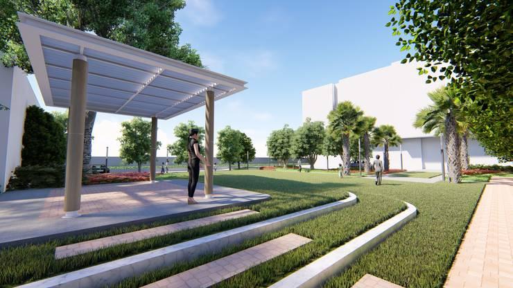 Landscape Design Presentation:  Commercial Spaces by ADS : Archawin Design Studio
