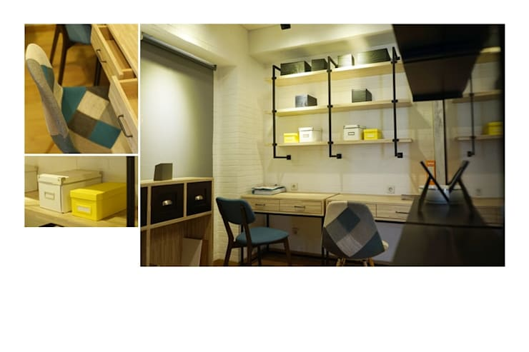 Apartemen Industrial Scandinavian:   by Urbano Livings