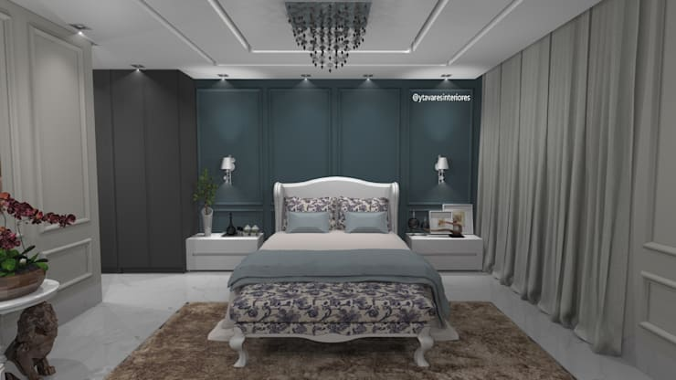 Dormitório do casal: Quartos  por Yeedger Tavares Projetos de interiores