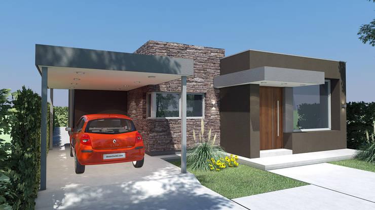 Vivienda Unifamiliar: Casas de estilo  por Agustín Reyes - Zoom Arquitectura.,