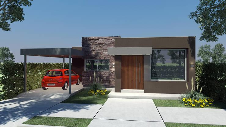 Vivienda Unifamiliar:  de estilo  por Agustín Reyes - Zoom Arquitectura.,