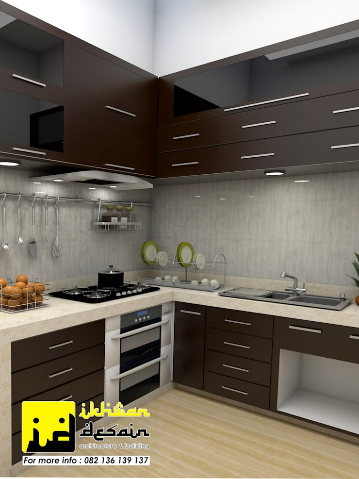 Desain Interior:  Unit dapur by Ikhwan desain