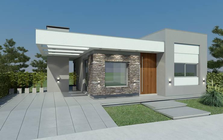 Casas en Barrios Privados.: Casas unifamiliares de estilo  por Agustín Reyes - Zoom Arquitectura.,