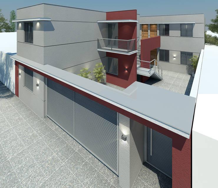 Complejo Habitacional - Lujàn de Cuyo.: Casas de estilo  por Agustín Reyes - Zoom Arquitectura.,