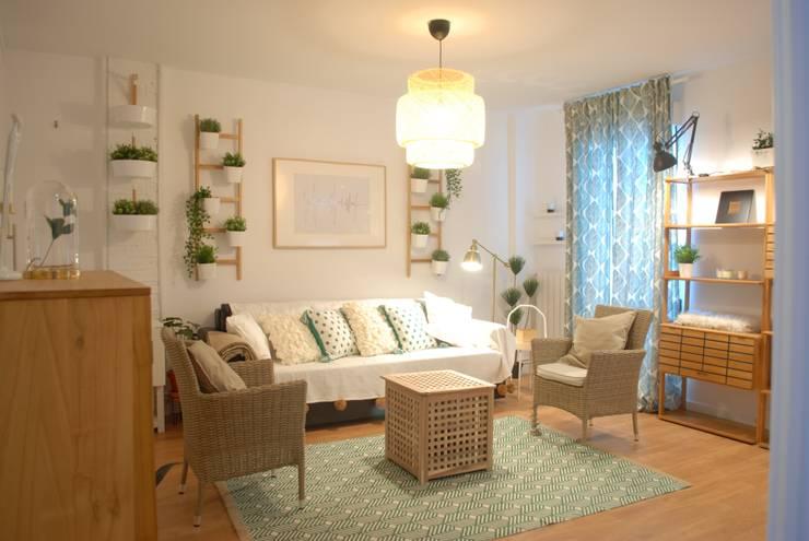 Salón después :  de estilo  de Home Staging Bizkaia
