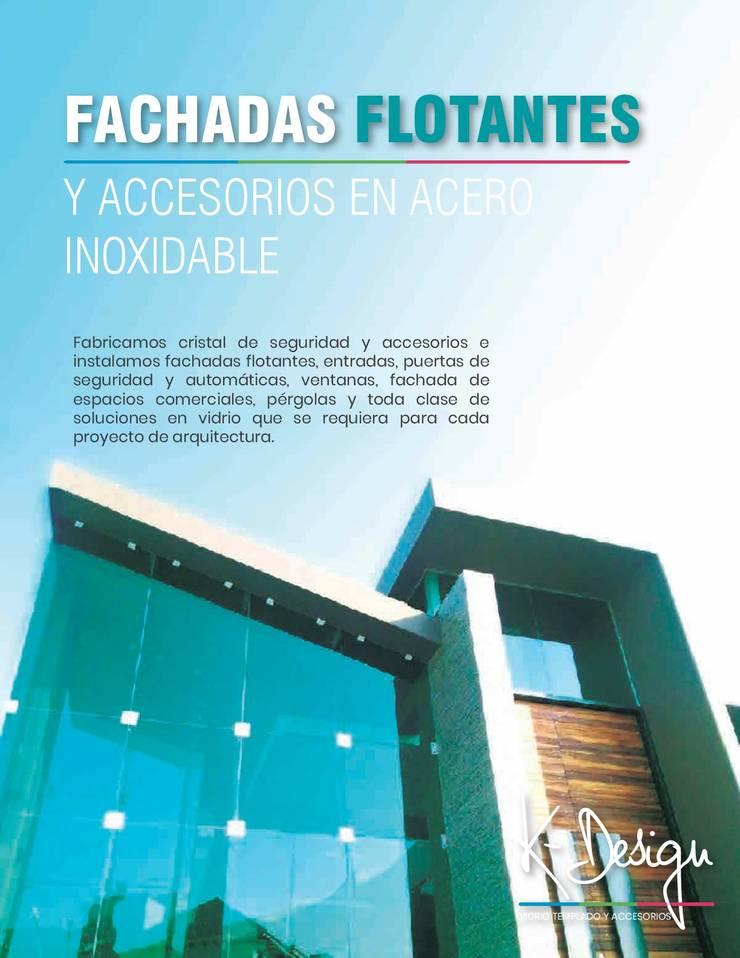 Soluciones en vidrio templado: Casas de estilo  por .K-Design arquitectura y diseño interior