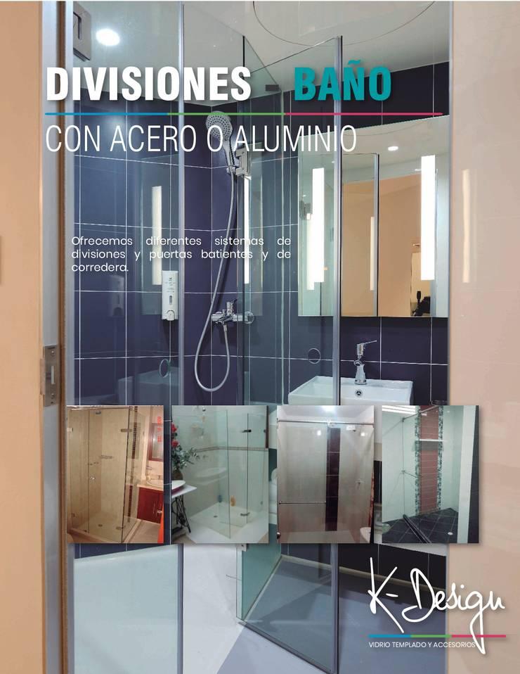 Soluciones en vidrio templado: Baños de estilo  por .K-Design arquitectura y diseño interior