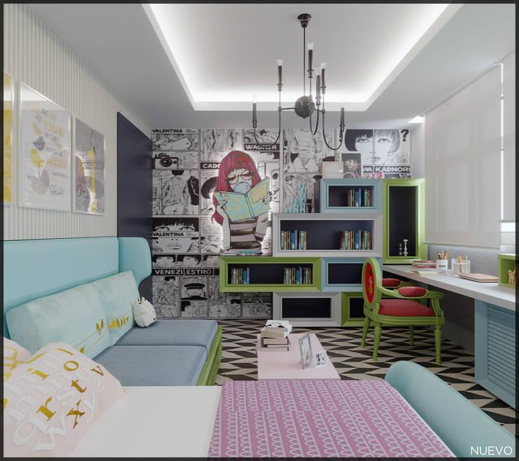 Nuevo Tasarım – Ankara Park Vadi Ev Projesi:  tarz Kız çocuk yatak odası