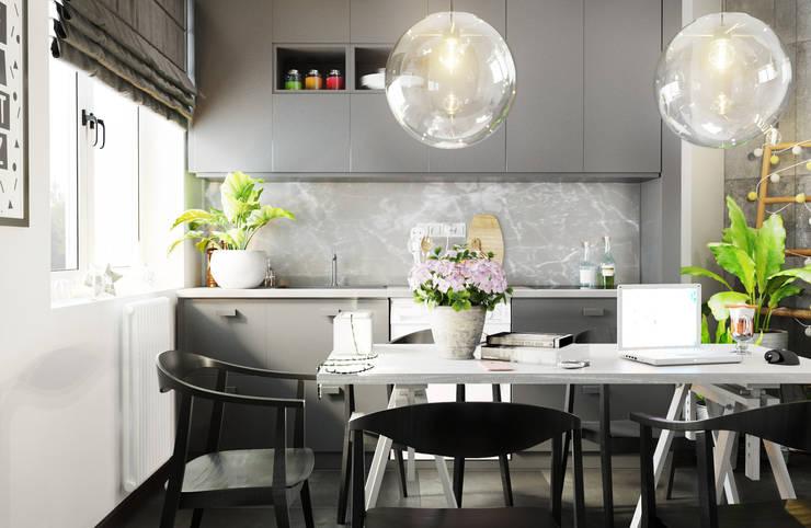 Projekty,  Kuchnia zaprojektowane przez Rerooms