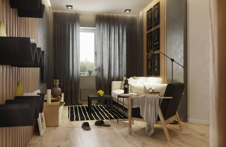 Projekty,  Salon zaprojektowane przez Rerooms