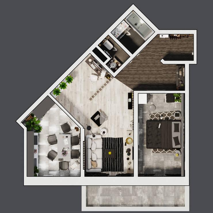 Projekty,   zaprojektowane przez Rerooms