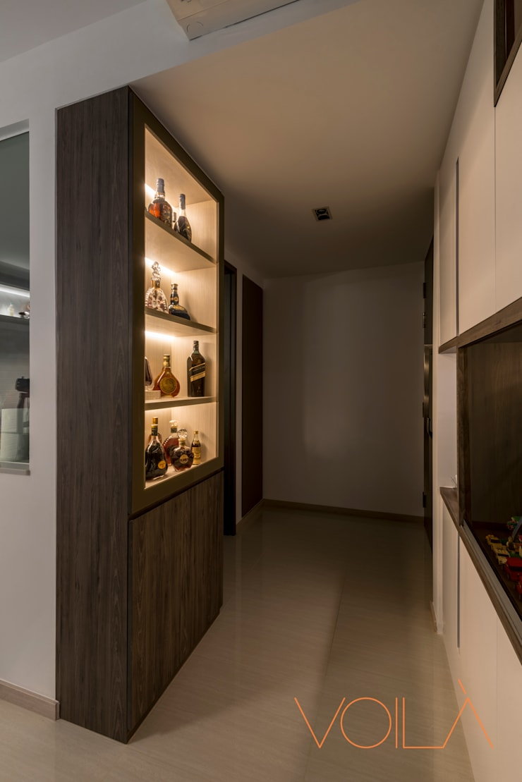 27 Anchorvale Crescent, Bellewaters:  Wine cellar by VOILÀ Pte Ltd,Modern