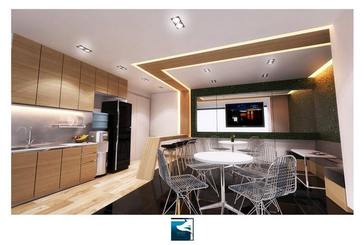 งานออกแบบสำนักงาน Siemens (Thailand ):  อาคารสำนักงาน ร้านค้า by Blufox eco-solution Co., Ltd.