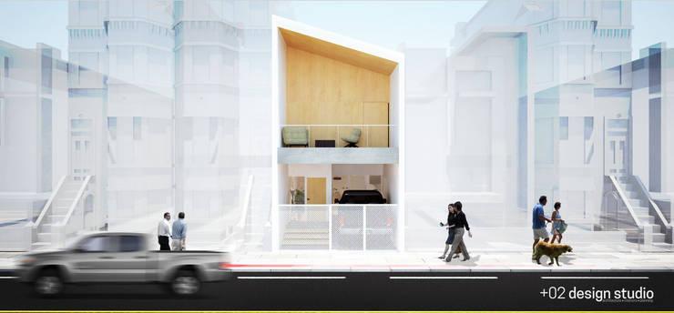 Slice House:  Single family home by Plus Zero Two Design Studio