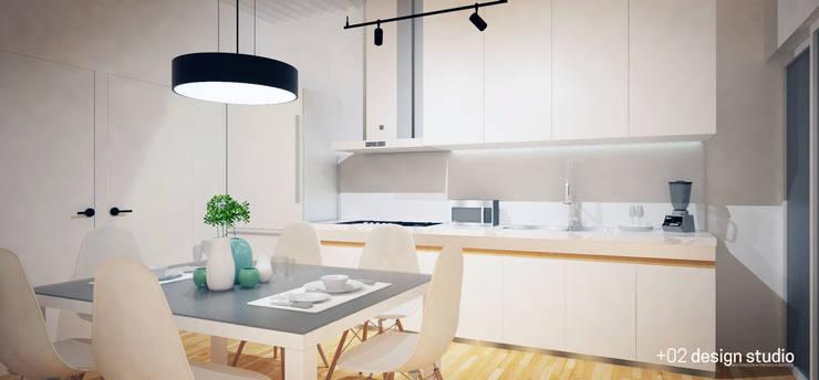 Slice House:  Dining room by Plus Zero Two Design Studio