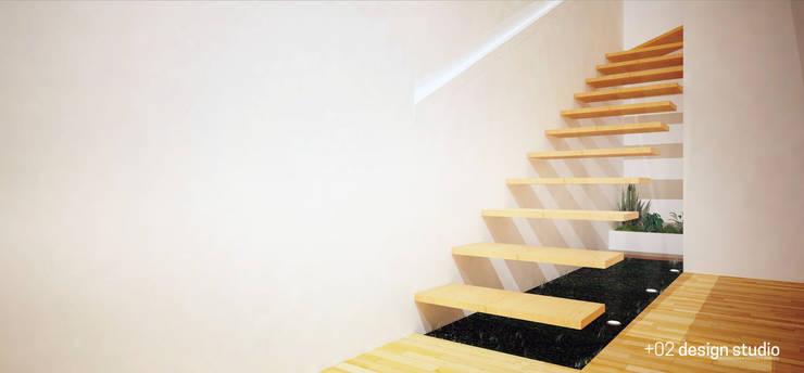 Slice House:  Stairs by Plus Zero Two Design Studio