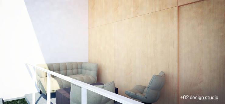 Slice House:  Terrace by Plus Zero Two Design Studio