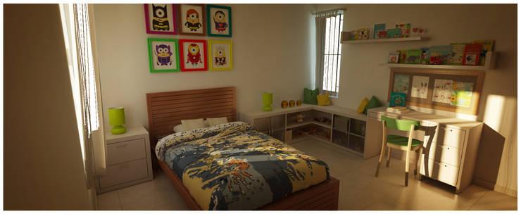 Kid's Bedroom: modern Bedroom by Sandarbh Design Studio