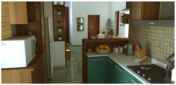 Kitchen: modern Kitchen by Sandarbh Design Studio