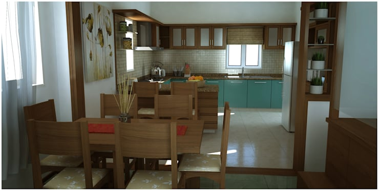 Dining room: modern Dining room by Sandarbh Design Studio