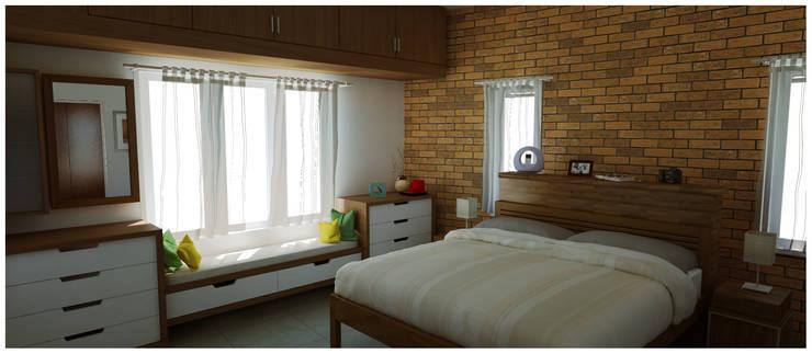 Master Bedroom: rustic Bedroom by Sandarbh Design Studio