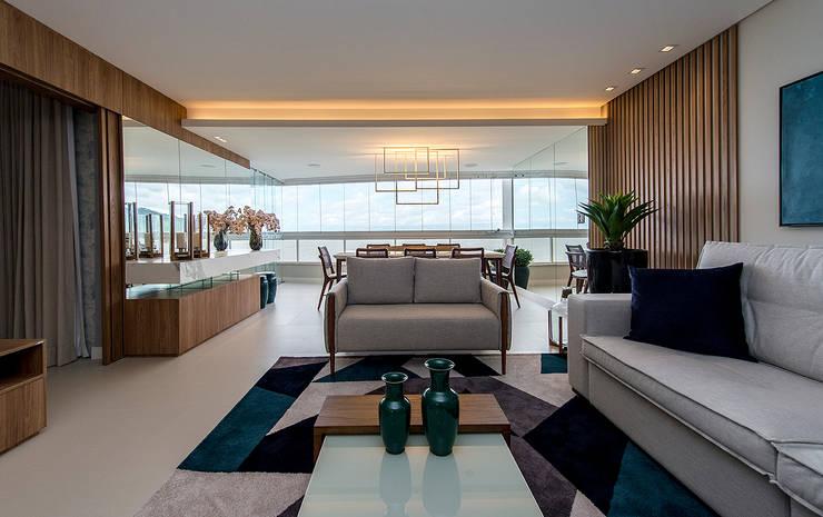 Living room by Espaço do Traço arquitetura, Modern