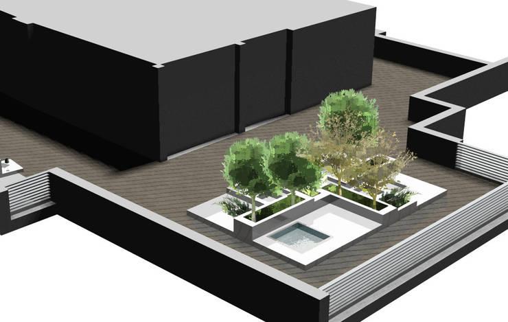 Terraço: Terraços  por THAT PLACE - Zoom Way Lda.,Minimalista