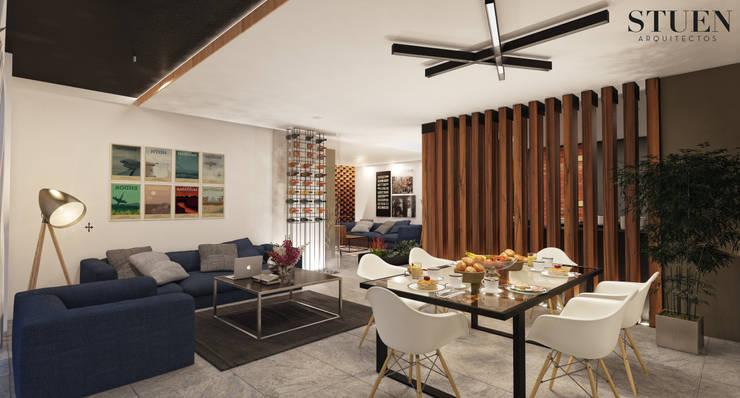 Area social Sala: Salas de estilo  por Stuen Arquitectos