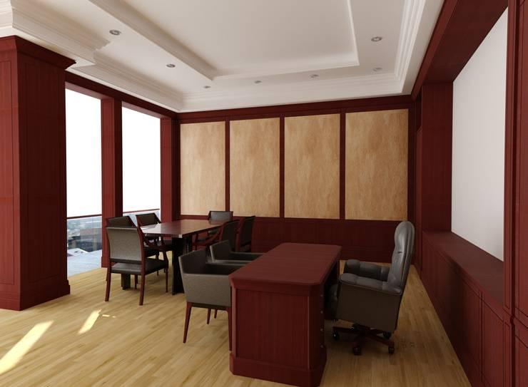Oficina presidencia Banco Sudameris de Corte Verde SAS Moderno