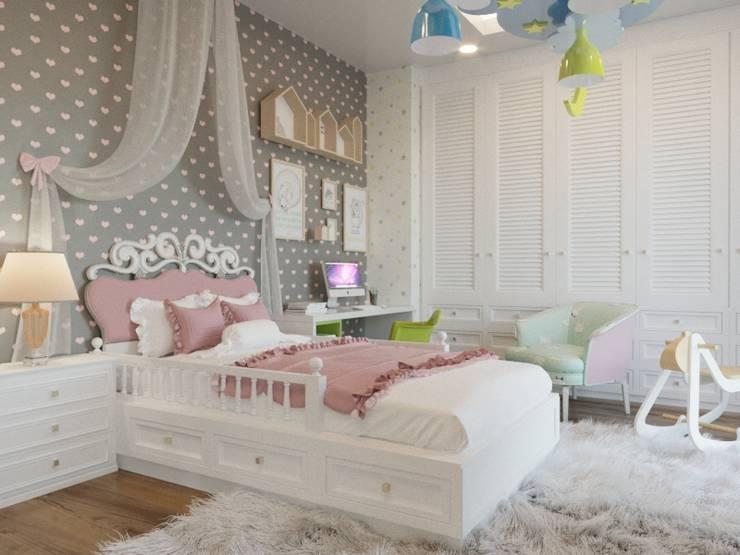 Nuevo Tasarım – Ankara Çay yolu Duru Irmak Sitesi Projesi:  tarz Kız çocuk yatak odası