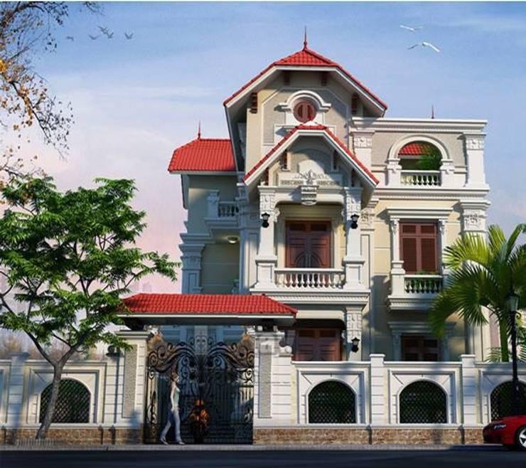 Biệt thự kiểu Pháp:   by Công ty thiết kế biệt thự đẹp VAG