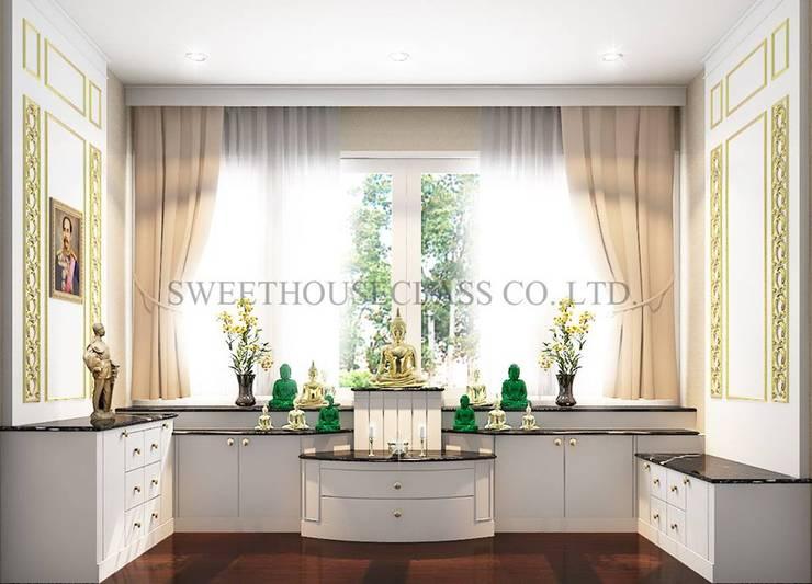 ห้องพระ:  ตกแต่งภายใน by Sweethouseclass Co.,Ltd.