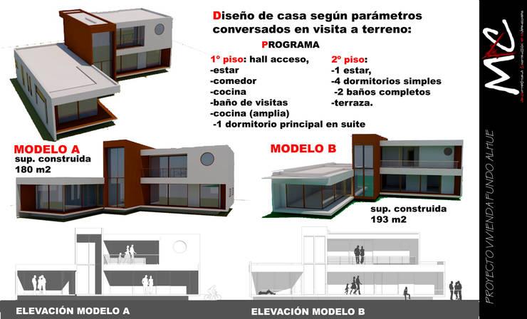 Proyecto Casa Alhué:  de estilo  por MAC SPA