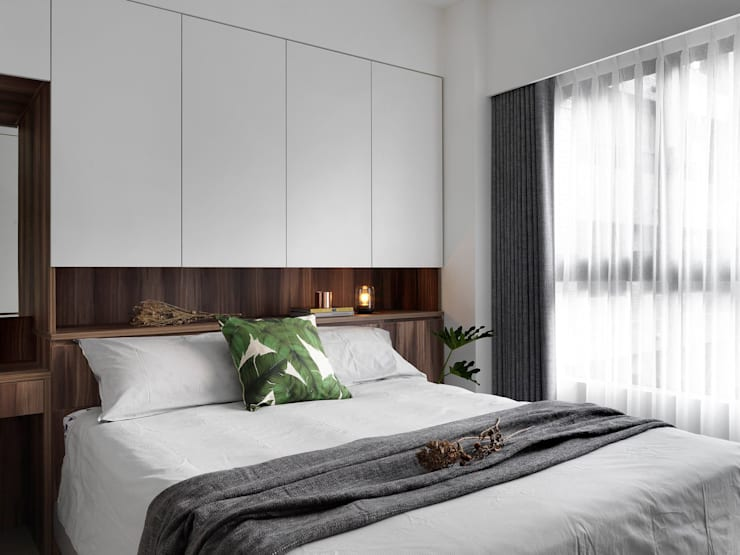 minimalistic Bedroom by 御見設計企業有限公司