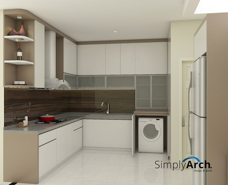 minimalistic Kitchen by Simply Arch.