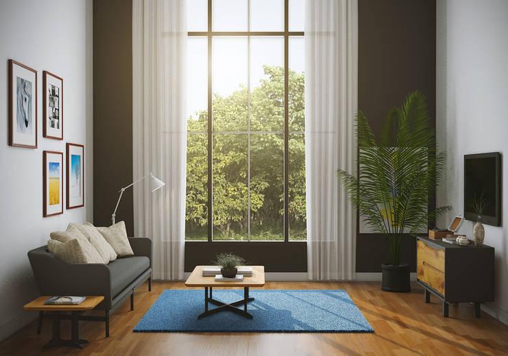 Livingroom:  Ruang Keluarga by casadellastudio