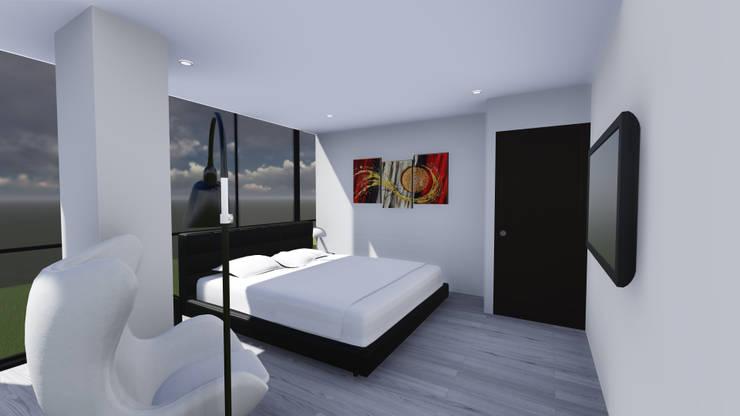 EDIFICIO EZKINA: Habitaciones de estilo  por Corte Verde SAS