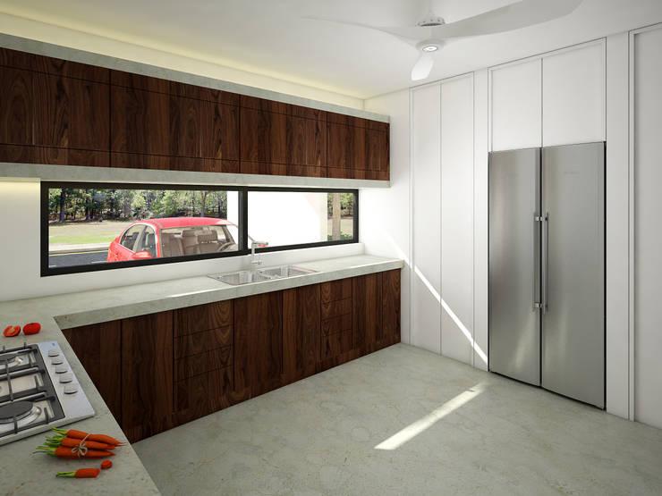 cocina:  de estilo  por studio arquitectura | Despacho de arquitectos | Cancún