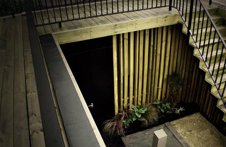Restaurant Algarrobo: Jardines de estilo  por m2 estudio arquitectos - Santiago