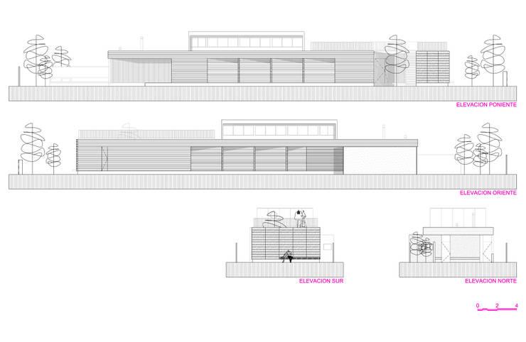 Restaurant Algarrobo:  de estilo  por m2 estudio arquitectos - Santiago