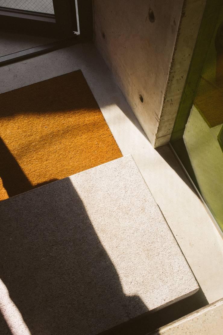 Hallway:  Floors by Smth Co