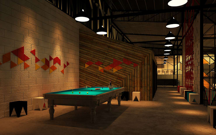 The truss Pub & restaurant:   by Pilaster Studio Design