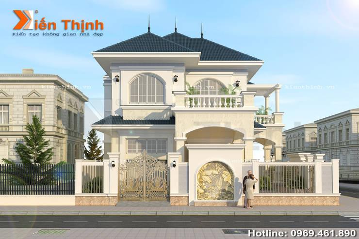 Mẫu biệt thự 2 tầng kiểu Pháp đẹp đến từng chi tiết:   by Công ty kiến trúc Huỳnh và Cộng sự