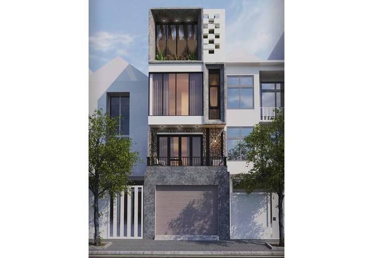 บ้านเดี่ยว โดย Công ty Thiết Kế Xây Dựng Song Phát,