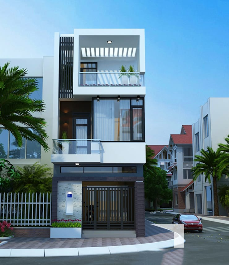บ้านและที่อยู่อาศัย โดย Công ty Thiết Kế Xây Dựng Song Phát,