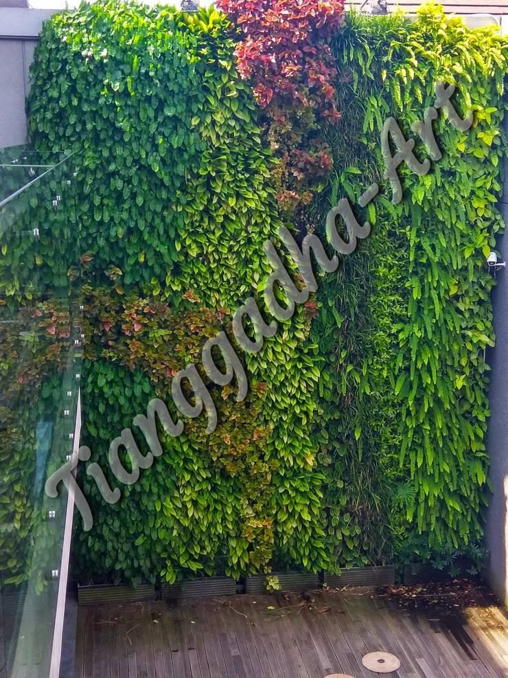 Vertical garden solusi mengatasi keterbatasan lahan taman:  Kolam taman by Tukang Taman Surabaya - Tianggadha-art