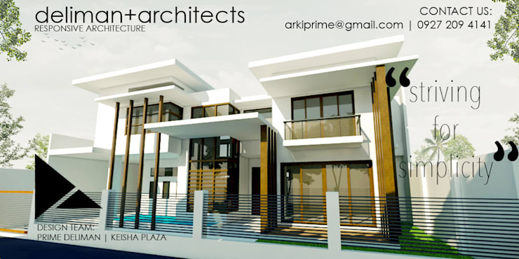 STRIVING FOR SIMPLICITY (Proposed Two - Storey Residential Building):   by Deliman Architects