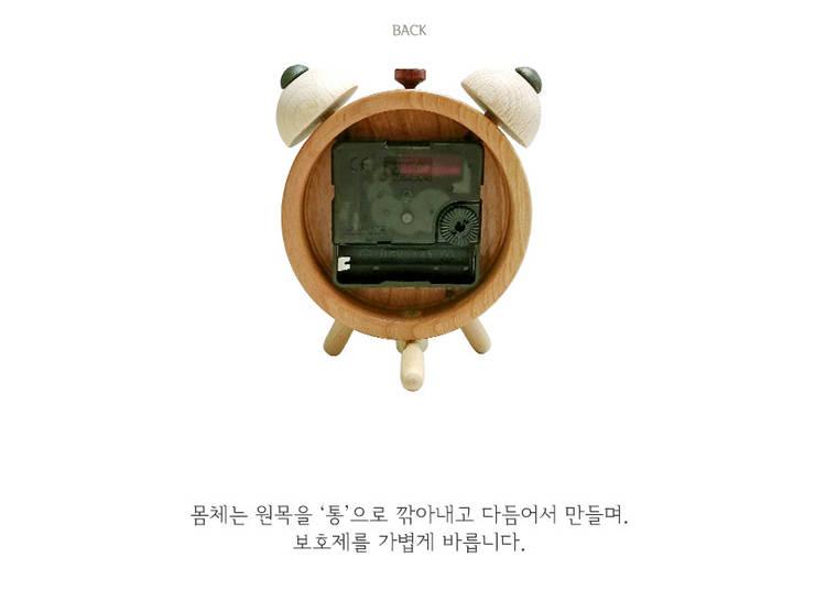 모던빈티지 수공예 원목시계: 나무그루의  가정 용품