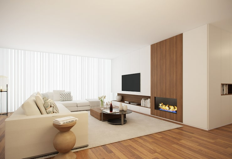 Home for Two: Salas de estar  por 411 - Design e Arquitectura de Interiores