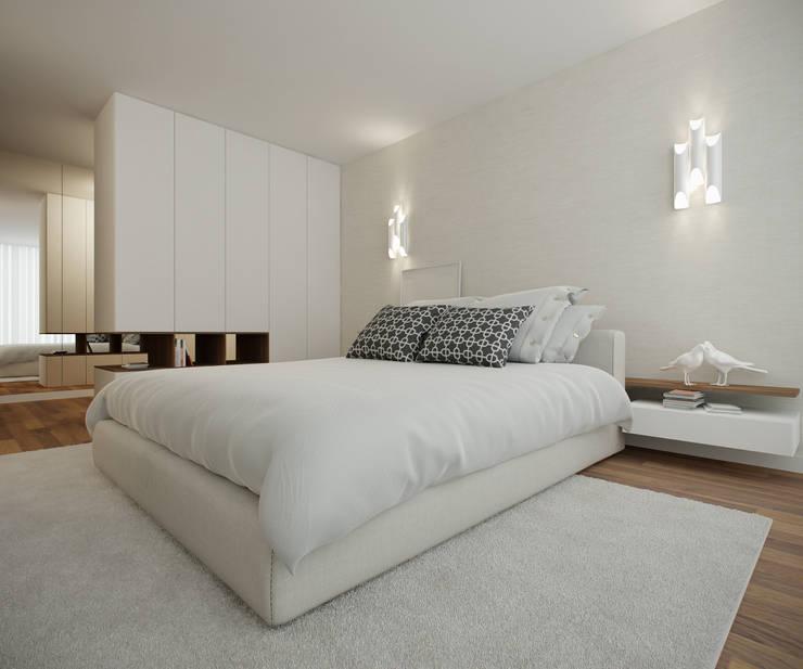 Home for Two: Quartos  por 411 - Design e Arquitectura de Interiores